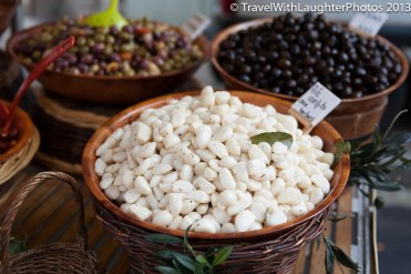 Garlic and olives galore!
