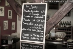 Menu and we don't speak French