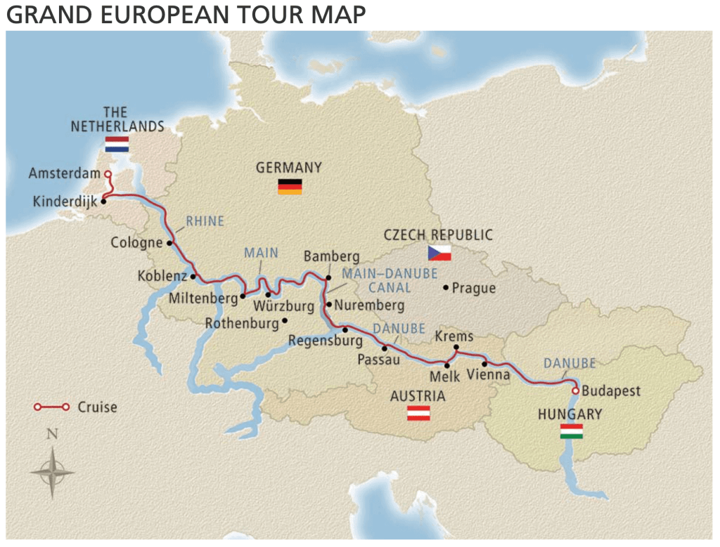 budapest to amsterdam river cruise map Best Sights To See On The Viking Grand European Tour River Cruise budapest to amsterdam river cruise map