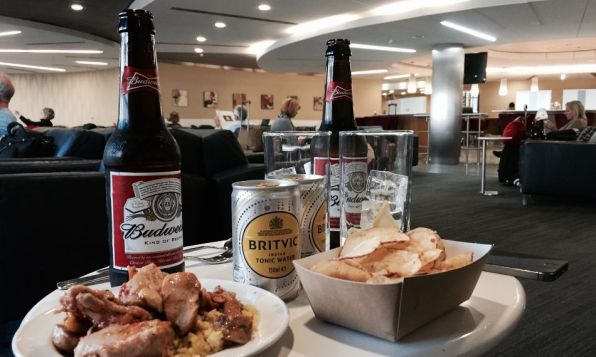 American Airlines Admirals Club London Heathrow T3 Bud Chips