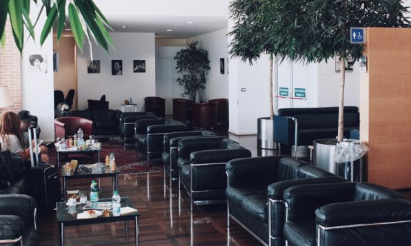 Marco Polo Club VIP Lounge Venedig Sessel