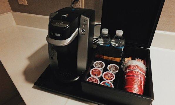 Review Marriott Marquis Washington Küche Kaffeemaschine