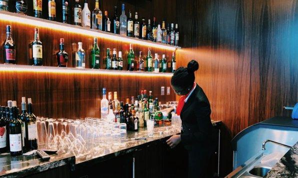 Turkish Airlines Lounge Washington DC Cocktails Longdrinks Sprits