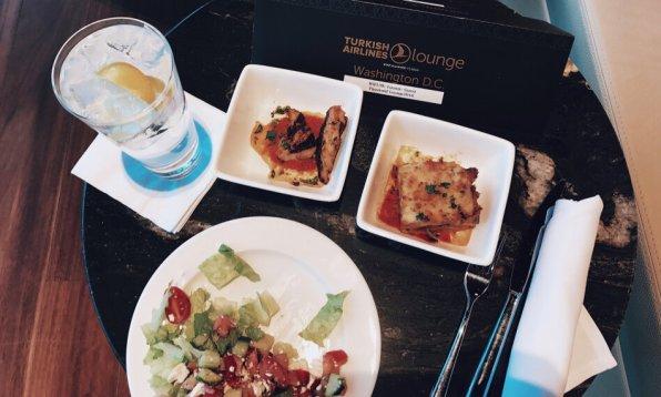 Turkish Airlines Lounge Washington DC Speisen und Getränke