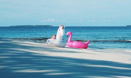 Review JA Manafaru Maldives Einhorn und Flamingo
