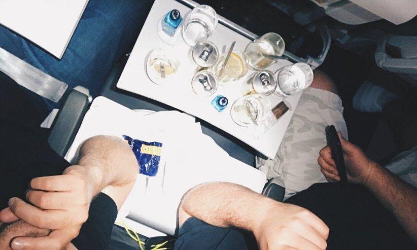 Review Lufthansa Business Class Airbus A321 Frankfurt - Kairo ups noch mehr Gin Tonic