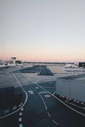 Review Lufthansa Business Class Airbus A321 Frankfurt - Kairo Apron View