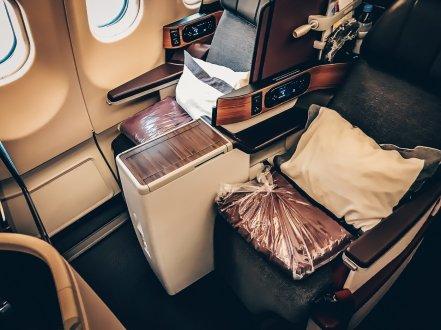 Qatar First Class Kairo - Doha - Qatar Airways Business Class Airbus A330-300