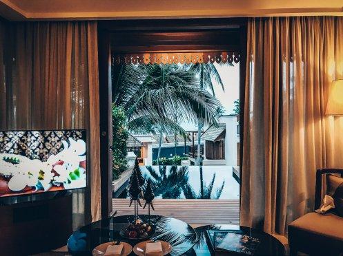 Review The Ritz-Carlton Koh Samui Wohnzimmer Pool Villa