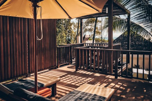 Review The Ritz-Carlton Koh Samui Pool Villa Ausblick Terrasse