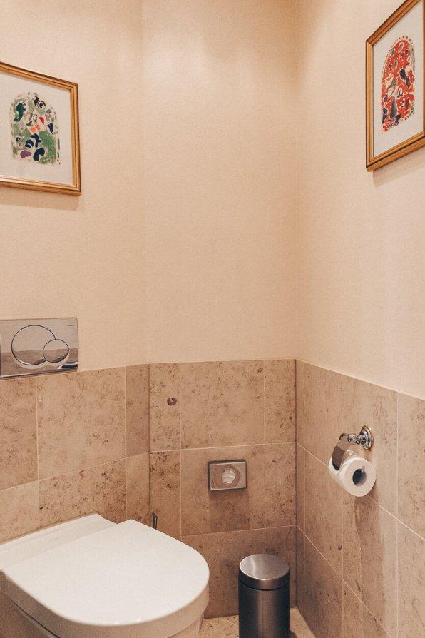 Review Bülow Palais Dresden Hotel Deluxe Doppelzimmer WC Badezimmer