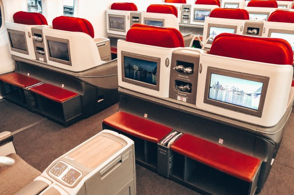 LATAM Business Class Boeing 787-9 Madrid Kabine