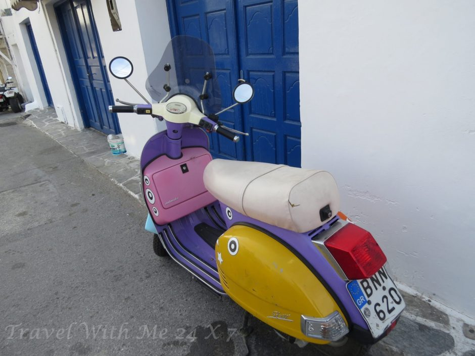 colorful scooter