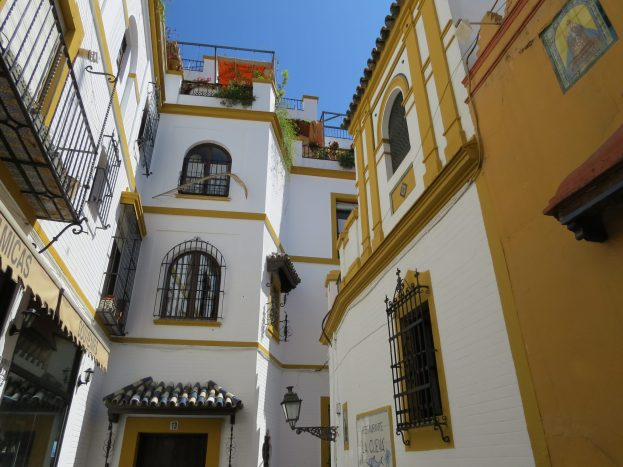 Houses around Streets of Seville