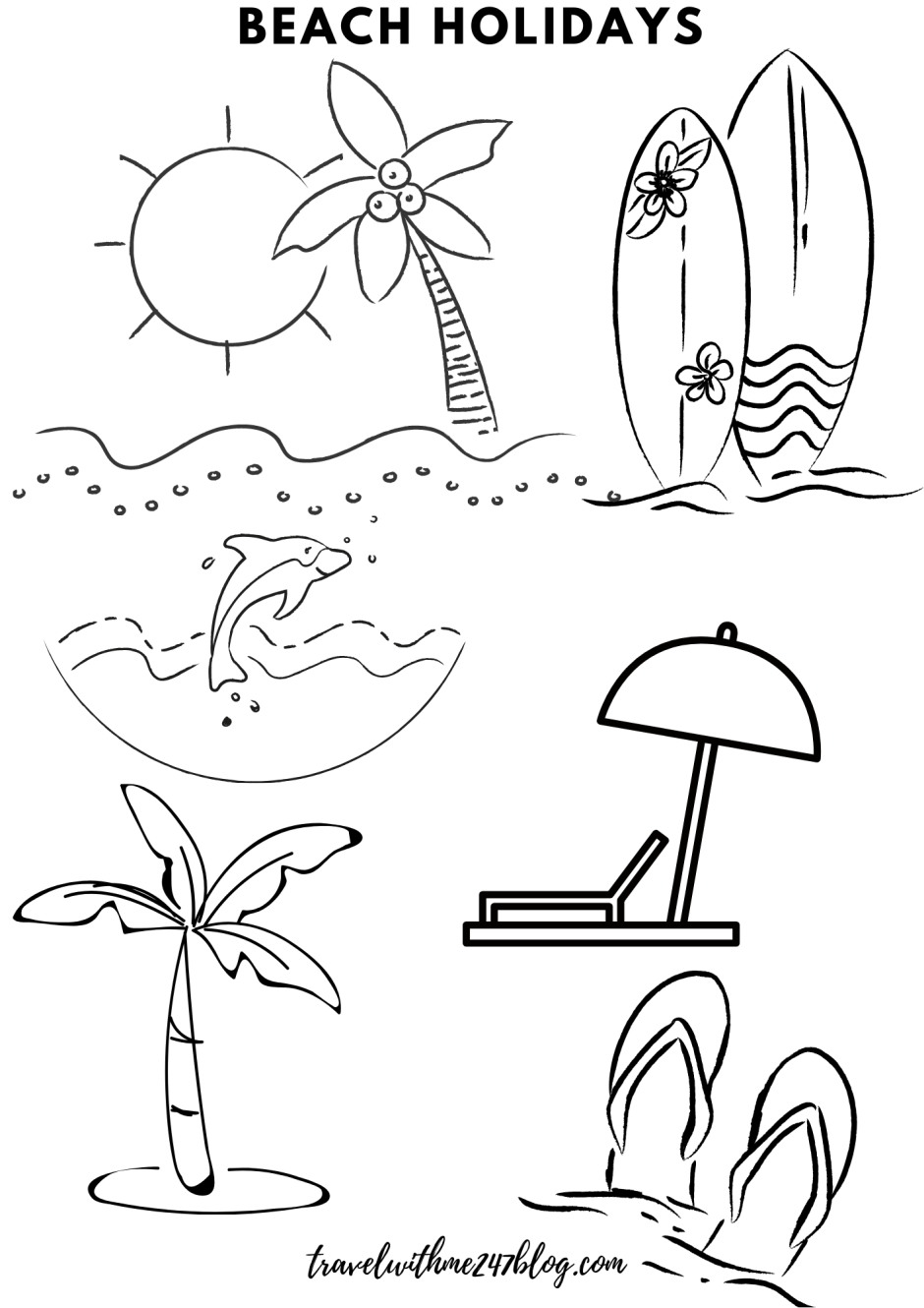 Free Online Coloring Pages - Color Your Travel Memories