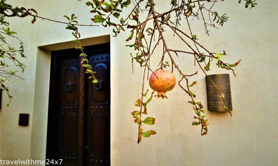 Pomegrante tree at The Chedi Al Bait Sharjah – Luxury Hotel in UAE