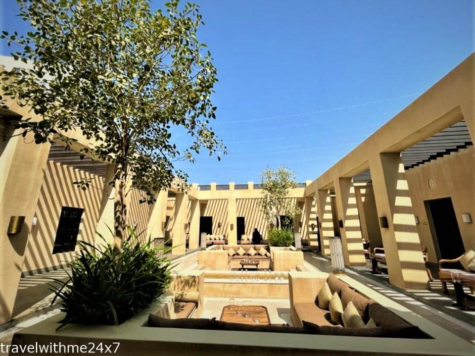 main courtyard at Chedi al bait Sharjah