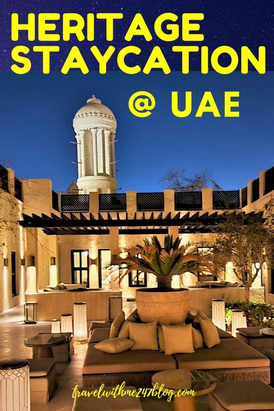 heritage staycation in UAE - Best hotel in Sharjah