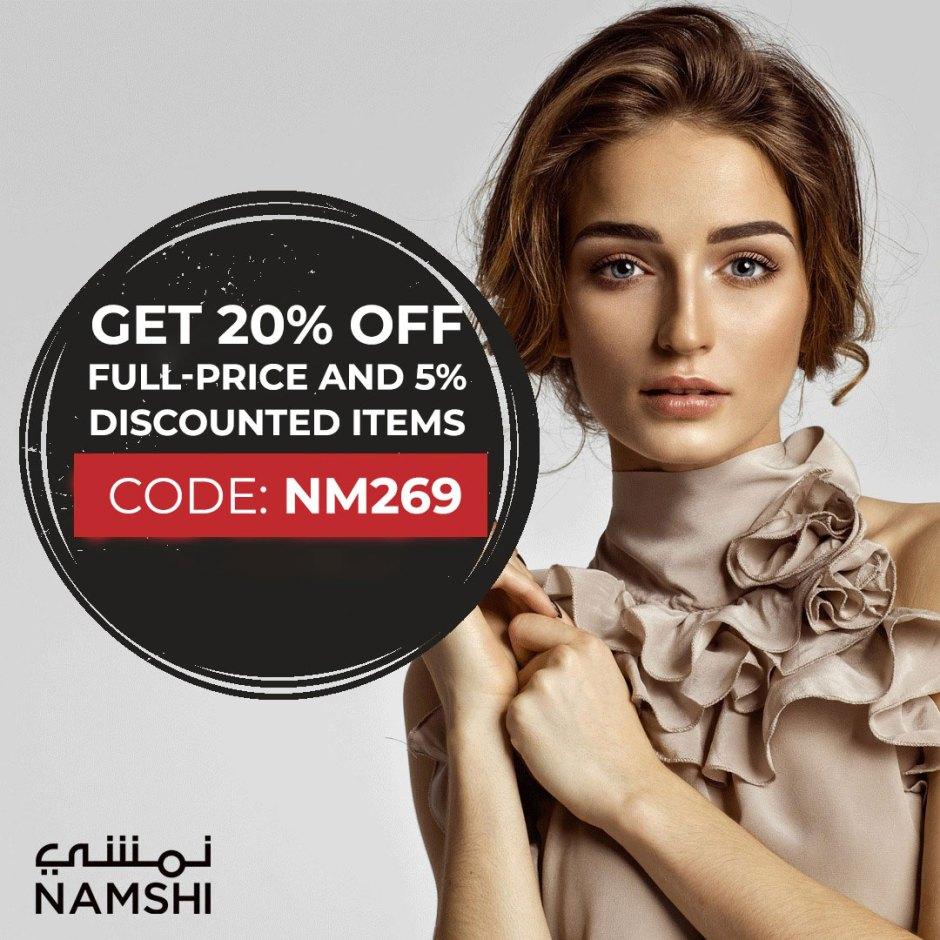Namshi discount code for Online shopping