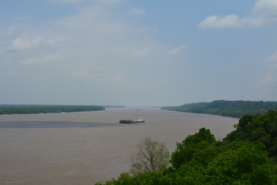 Vue sur le Mississippi Natchez