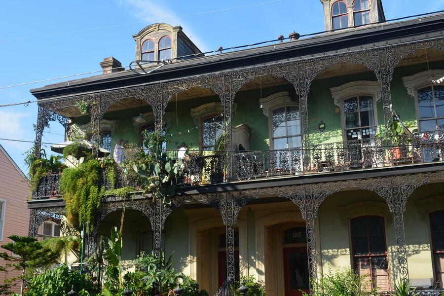 Bâtiment typique Nouvelle Orléans Lousiane