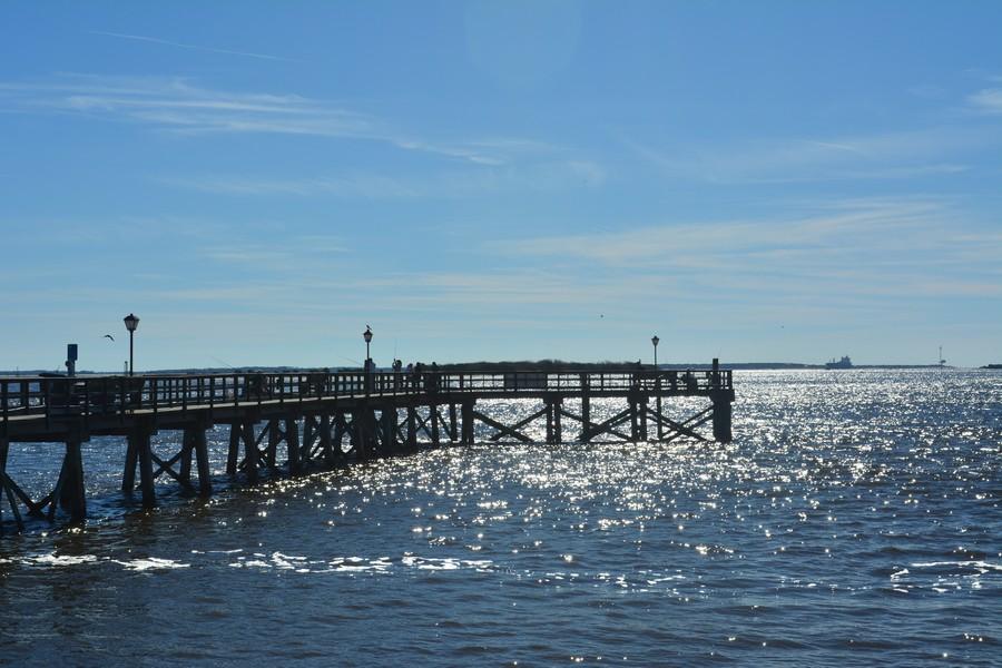 Vue sur la jetée Charleston Caroline du Sud