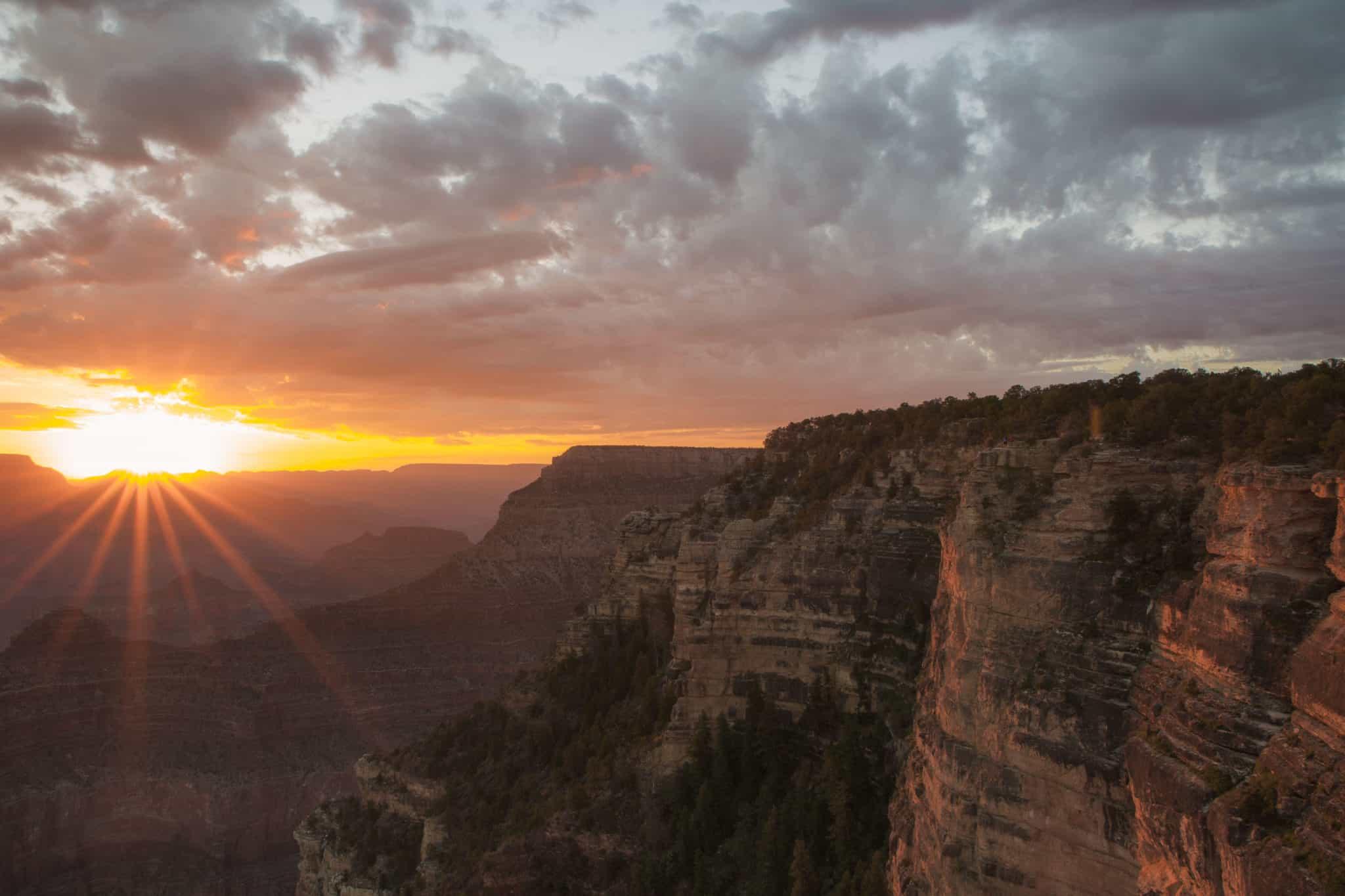Sunrise over The Grand Canyon Arizona USA
