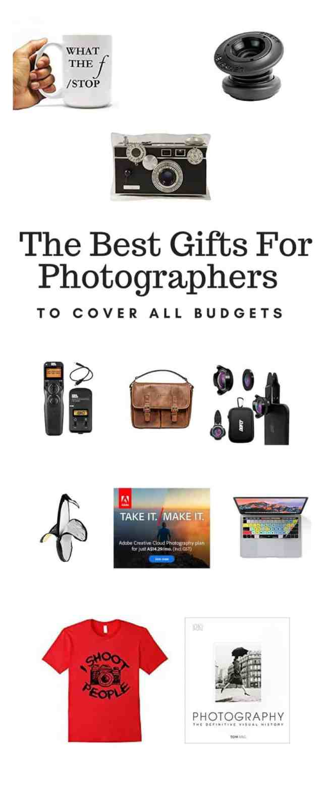 The Best Gifts For Photographers to cover all budgets