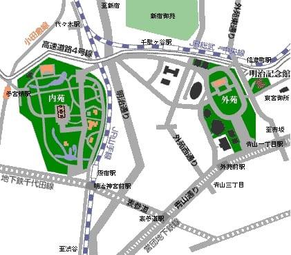 明治神宮地圖