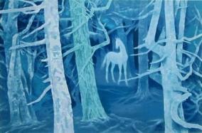 白馬的森。東山魁夷館藏