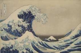 北齋葛飾的神奈川沖浪裏。圖片來源:go-nagano.net