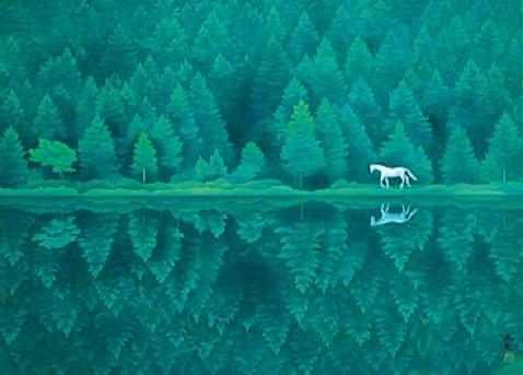 緑響く。東山魁夷館藏