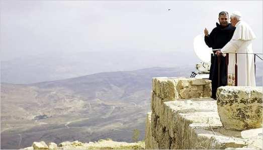 Pope Benedict XVI 從這裡遠眺耶路撒冷聖地。照片來源:紐約時報