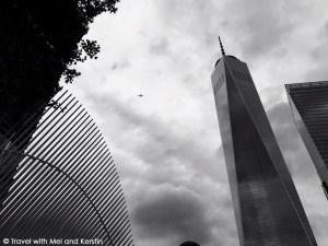 World Trade Center in black and white, New York City © Travelwithmk.com