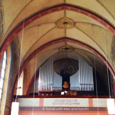 The organ in the Benedictine Convent's Chapel, Peppange © Travelwithmk.com