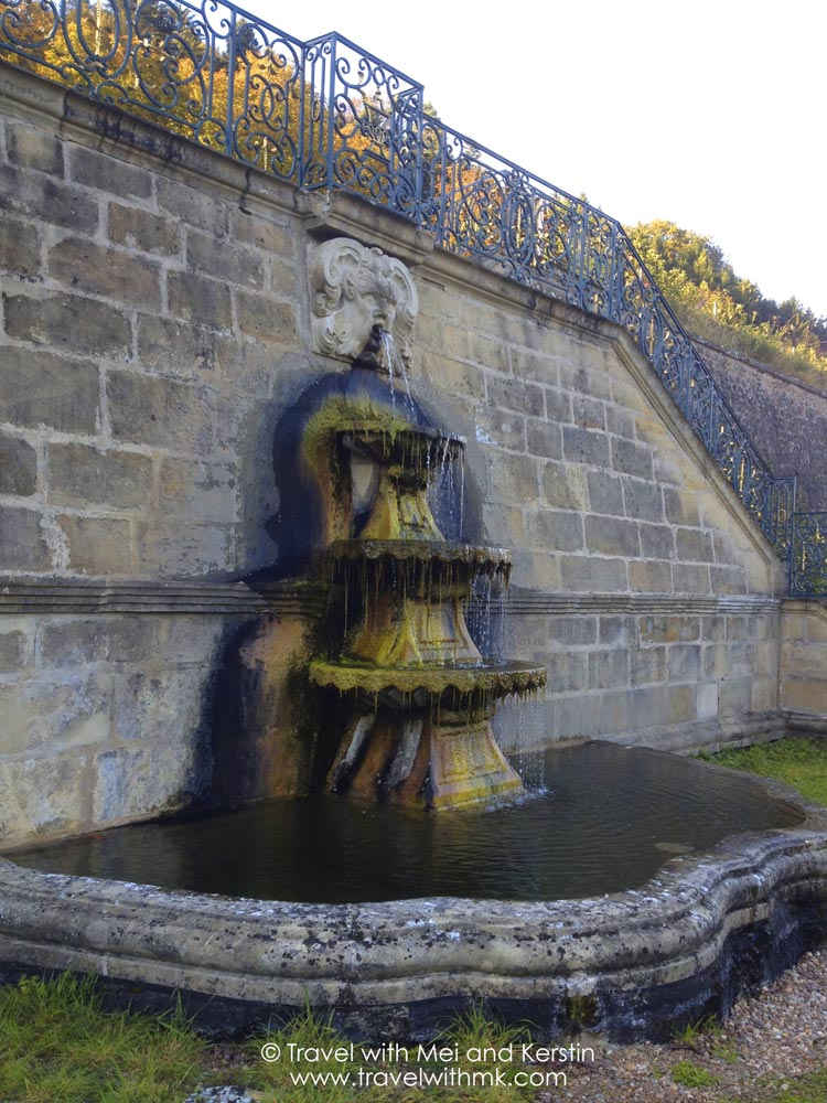 Three layer fountain in the gardens of the Ansembourg Castle, ©  Travelwithmk.com