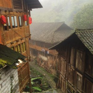 Village in the Longsheng Rice Terrace area, Guanxi, China © Travelwithmk.com