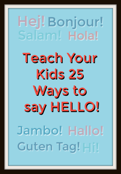 How to say hello in 25 languages
