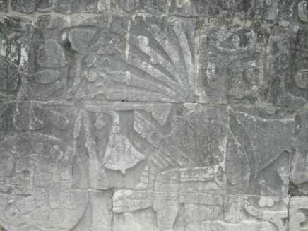 תבליט במקדש בצ'יצ'ן איצה