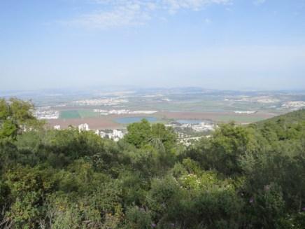 תצפית על עמק זבולון מחורשת הארבעים