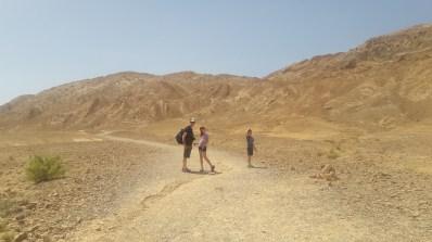 בדרך לקיר האמוניטים במכתש רמון