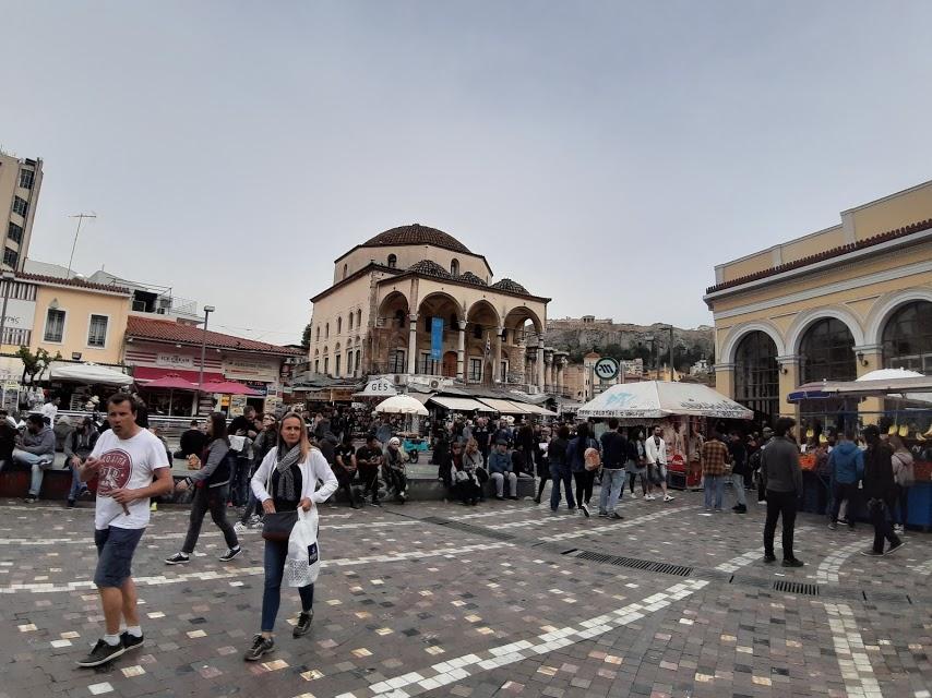 כיכר מונסטיראקי (Monastiraki) באתונה