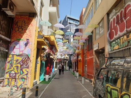 גרפיטי וציורי קיר באתונה