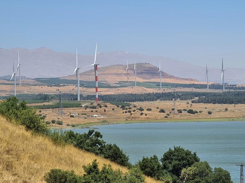 טורבינות הרוח בצפון רמת הגולן