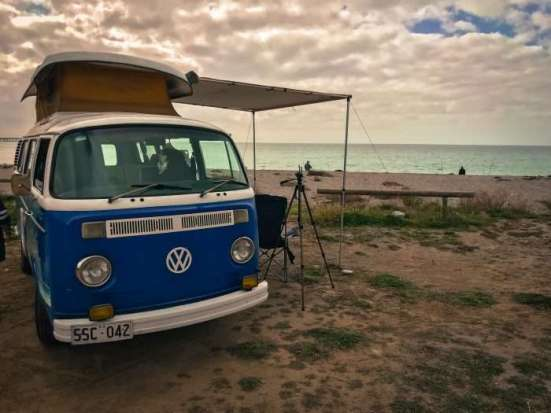 VW Camper Van at Rapid Bay