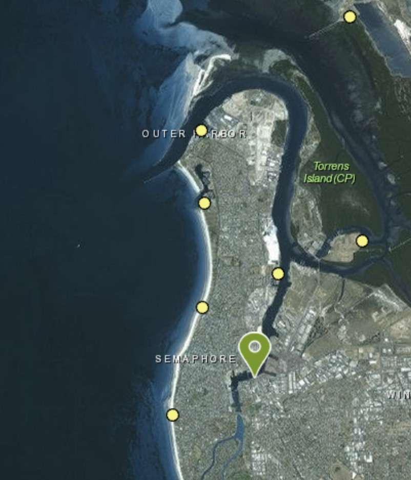 Boat Ramps near Port Adelaide Map
