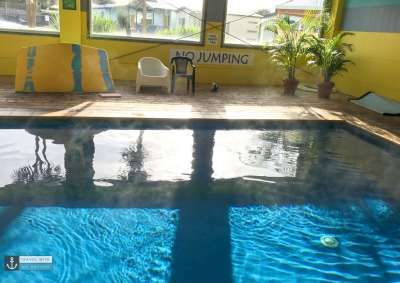 Port Fairy Big 4 Holiday Park - Indoor Pool with steam coming of