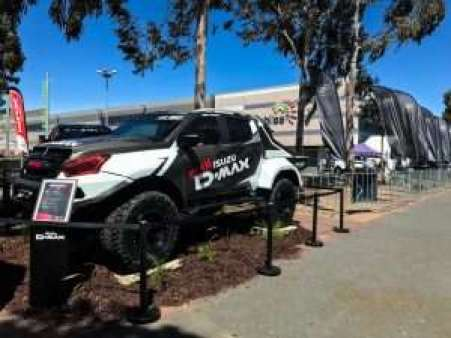 Team Isuzu D-Max display at the Adelaide 4WD & Adventure Show 2018