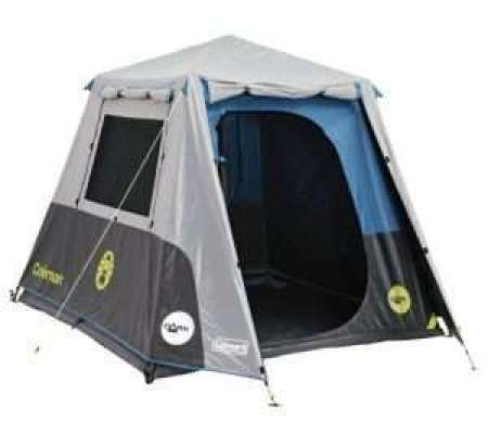 Coleman Instant Up Darkroom 4P Tent Grey, Blue & Lime