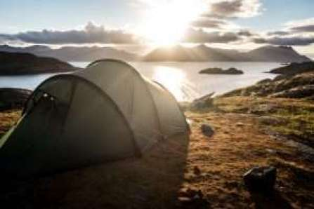 Camping at the top of mountains
